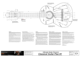 Classical1 Guitar Plan | Other Files | Patterns and Templates