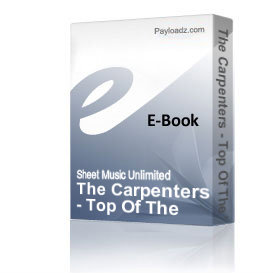 The Carpenters - Top Of The World (Piano Sheet Music) | eBooks | Sheet Music