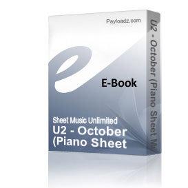 U2 - October (Piano Sheet Music) | eBooks | Sheet Music