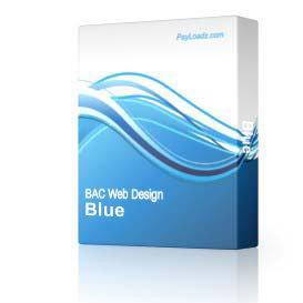 Blue & Gold - 785 | Software | Design Templates