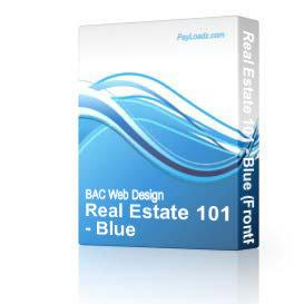 Real Estate 101 - Blue | Software | Design Templates