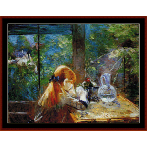 on the veranda - morisot cross stitch pattern by cross stitch collectibles
