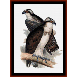 ospreys - wildlife cross stitch pattern by cross stitch collectibles