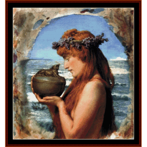 Pandora - Alma Tadema cross stitch pattern by Cross Stitch Collectibles | Crafting | Cross-Stitch | Wall Hangings