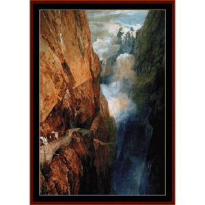 Passage at St. Gothard - Turner cross stitch pattern by Cross Stitch Collectibles | Crafting | Cross-Stitch | Wall Hangings