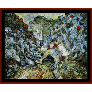 Path Through a Ravine - Van Gogh cross stitch pattern by Cross Stitch Collectibles | Crafting | Cross-Stitch | Wall Hangings
