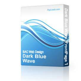 Dark Blue Wave | Software | Design Templates