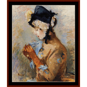 the parisian - morisot cross stitch pattern by cross stitch collectibles