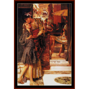 The Parting Kiss - Alma Tadema cross stitch pattern by Cross Stitch Collectibles | Crafting | Cross-Stitch | Wall Hangings
