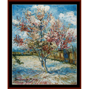 Peach Tree in Blossom - Van Gogh cross stitch pattern by Cross Stitch Collectibles | Crafting | Cross-Stitch | Wall Hangings