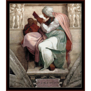 Persian Sibyl - Michelangelo cross stitch pattern by Cross Stitch Collectibles | Crafting | Cross-Stitch | Wall Hangings