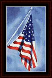 pledge of allegiance cross stitch pattern by cross stitch collectibles