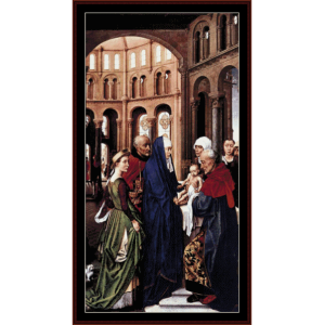 the presentation of christ - van der weyden cross stitch pattern by cross stitch collectibles