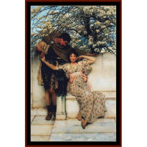 The Promise of Spring - Alma Tadema cross stitch pattern by Cross Stitch Collectibles | Crafting | Cross-Stitch | Wall Hangings