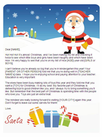 Christmas Letter from Santa for Kindergarten - Gifts Design | Other Files | Documents and Forms