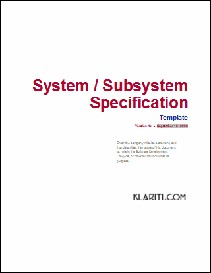 System Specification Template | Other Files | Documents and Forms