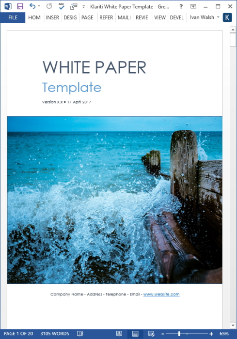 Second Additional product image for - 15 White Paper Templates (MS Word)