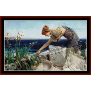 Among the Ruins - Alma Tadema cross stitch pattern by Cross Stitch Collectibles | Crafting | Cross-Stitch | Wall Hangings