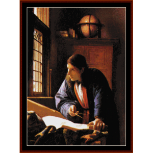 The Astronomer - Vermeer cross stitch pattern by Cross Stitch Collectibles | Crafting | Cross-Stitch | Wall Hangings