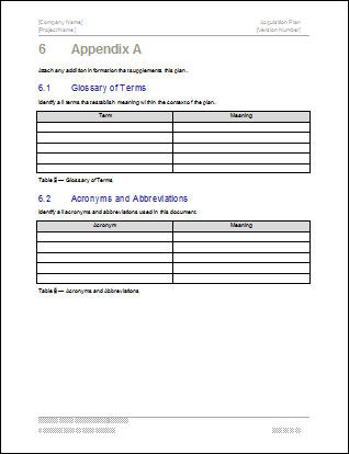 First Additional product image for - Acquisition Plan Excel Template for 5 Year Plan
