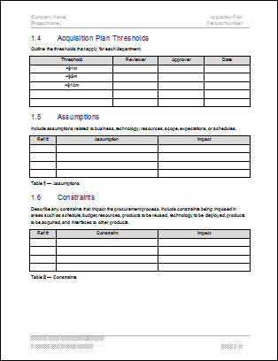 Second Additional product image for - Acquisition Plan Excel Template for 5 Year Plan