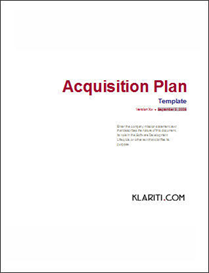 Acquisition Plan Excel Template for 5 Year Plan | Other Files | Documents and Forms