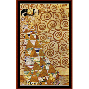 expectation i - klimt cross stitch pattern by cross stitch collectibles