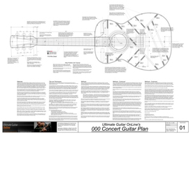 000 Concert Guitar Plans | Other Files | Patterns and Templates