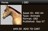 3D Horse | OBJ | Other Files | Patterns and Templates