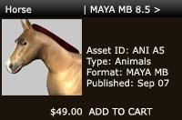 3D Horse | MAYA MB 8.5> | Other Files | Patterns and Templates
