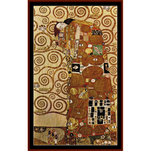 fulfillment - klimt cross stitch pattern by cross stitch collectibles