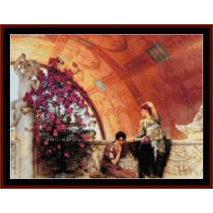 Unconcious Rivals - Alma Tadema cross stitch pattern by Cross Stitch Collectibles | Crafting | Cross-Stitch | Wall Hangings