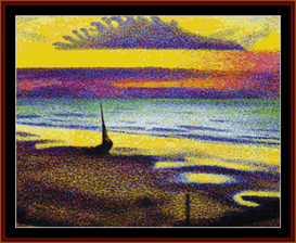 Beach at Heist - Lemmen cross stitch pattern by Cross Stitch Collectibles | Crafting | Cross-Stitch | Other