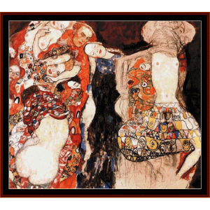 The Bride - Klimt cross stitch pattern by Cross Stitch Collectibles | Crafting | Cross-Stitch | Wall Hangings