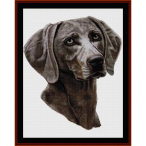 weimaraner - robt. j. may cross stitch pattern by cross stitch collectibles