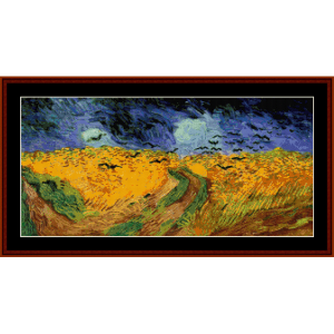 Wheat Field with Crows - Van Gogh cross stitch pattern by Cross Stitch Collectibles | Crafting | Cross-Stitch | Wall Hangings