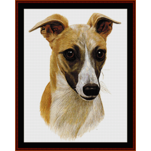 Whippet - Robt. J. May cross stitch pattern by Cross Stitch Collectibles | Crafting | Cross-Stitch | Wall Hangings