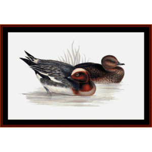 Widgeons - Wildlife cross stitch pattern by Cross Stitch Collectibles | Crafting | Cross-Stitch | Wall Hangings
