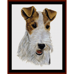 wire fox terrier - robt j. may cross stitch pattern by cross stitch collectibles