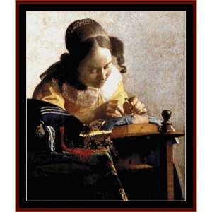 The Lacemaker - Vermeer cross stitch pattern by Cross Stitch Collectibles | Crafting | Cross-Stitch | Wall Hangings