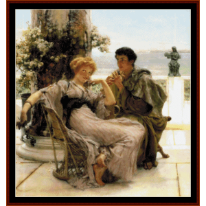 Vain Courtship II - Alma Tadema cross stitch pattern by Cross Stitch Collectibles | Crafting | Cross-Stitch | Wall Hangings