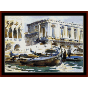 Venice - The Prison - Sargent cross stitch pattern by Cross Stitch Collectibles | Crafting | Cross-Stitch | Wall Hangings