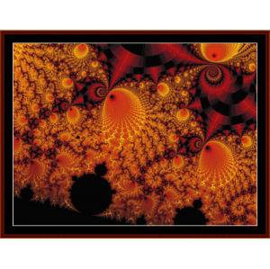 Fractal 90 cross stitch pattern by Cross Stitch Collectibles | Crafting | Cross-Stitch | Wall Hangings