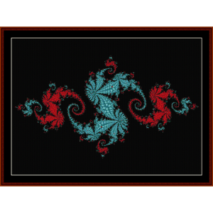 Fractal 124 cross stitch pattern by Cross Stitch Collectibles | Crafting | Cross-Stitch | Other