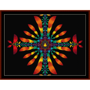 fractal 126 cross stitch pattern by cross stitch collectibles