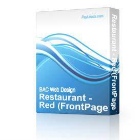Restaurant - Red | Software | Design Templates