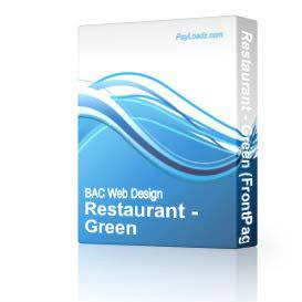 Restaurant - Green | Software | Design Templates