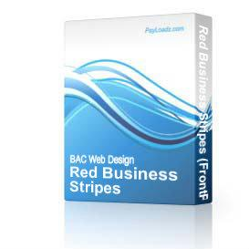 Red Business Stripes | Software | Design Templates
