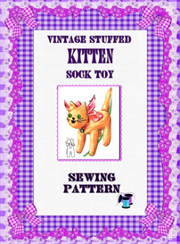 vintage cat sock toy sewing pattern
