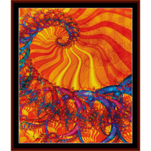 Fractal 220 cross stitch pattern by Cross Stitch Collectibles | Crafting | Cross-Stitch | Wall Hangings